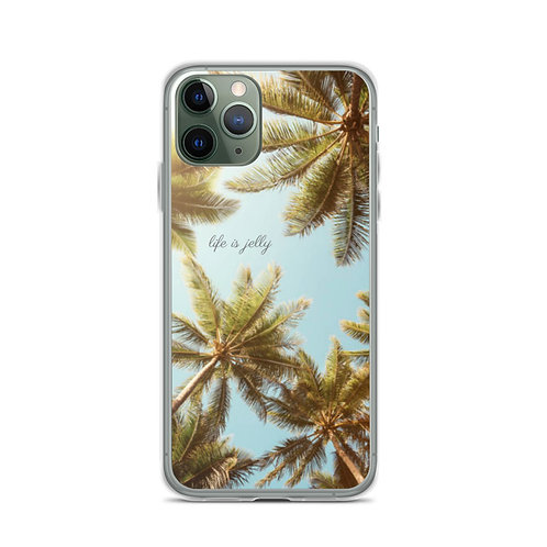 """Life is Jelly"" Palms - iPhone Case"