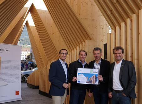 Wooden Installation in Innsbruck