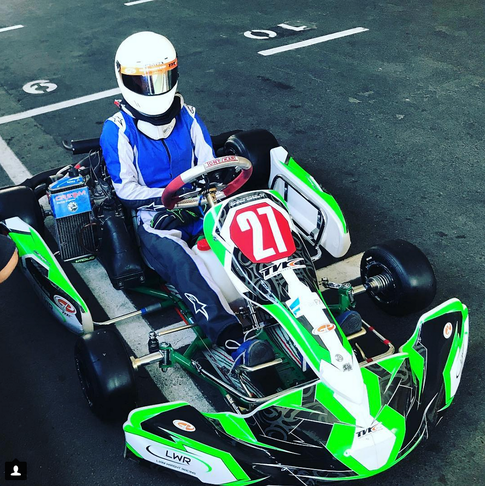George Smith - Liam Wright Racing Driver - 2nd in TVKC Junior Rotax Championship 2018