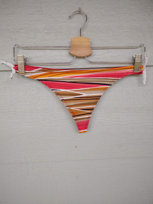 Medium Striped/Red Tie Thong