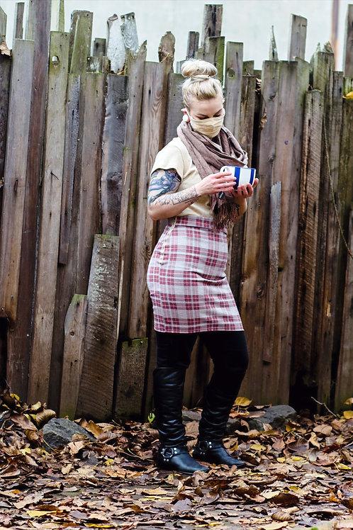 Plaid mini pencil skirt