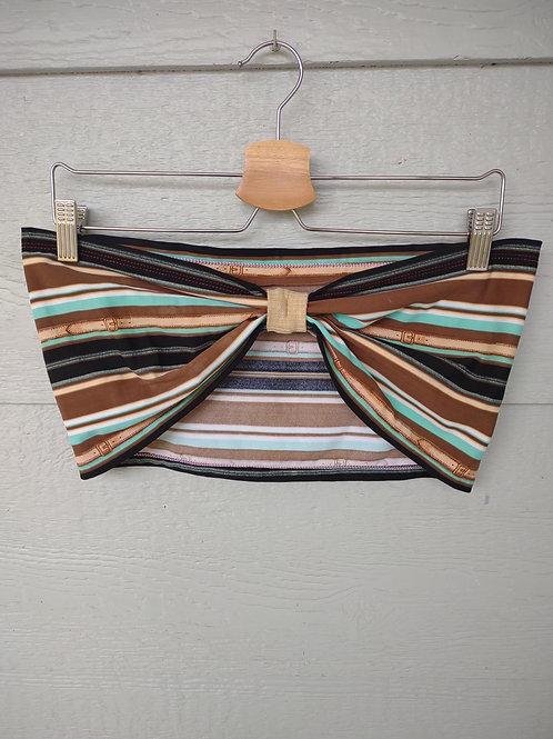 L/XL Striped Strapless Top