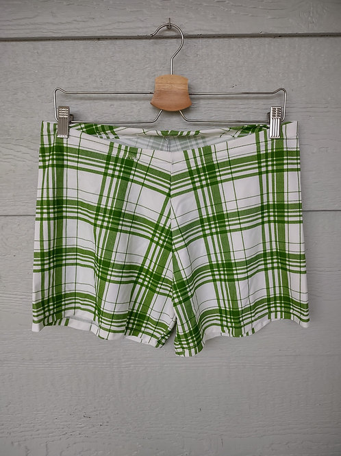 XXL/XXXL Green White Gingham Shorts