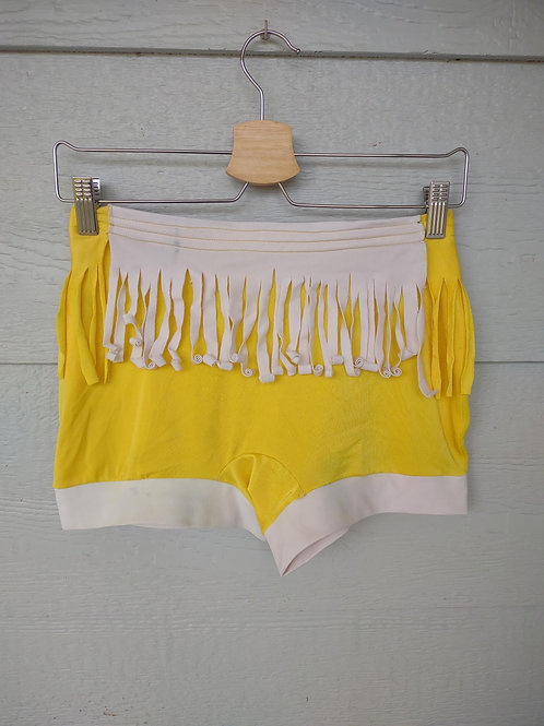 Medium Yellow Fringe Shorties