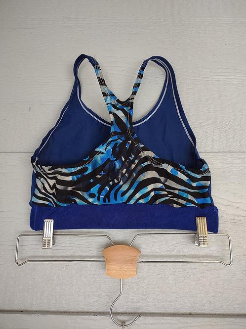 S/M Zebra/Blue Sporty Top