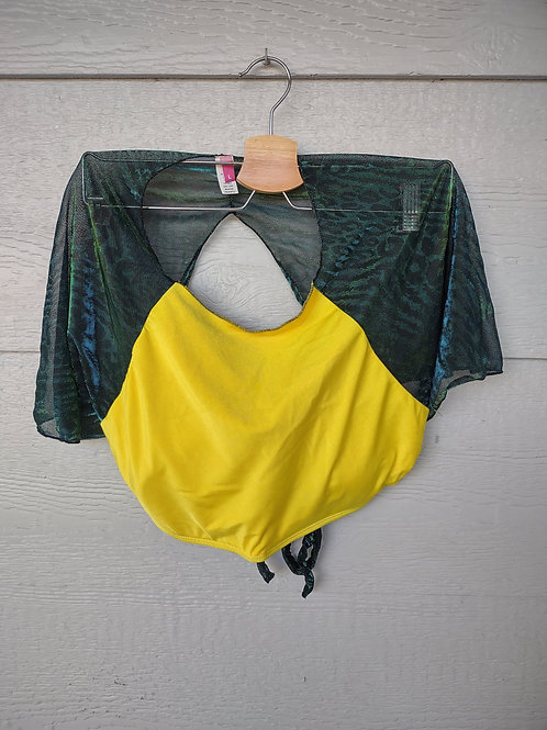 Large Yellow Shimmer Shirt Top