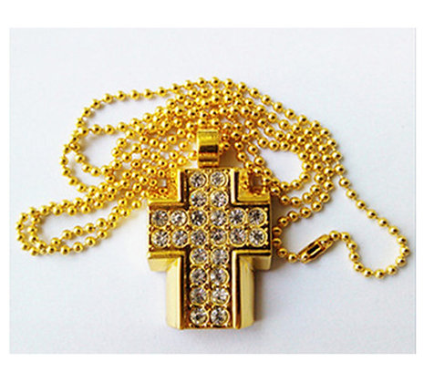 USB Gold cross