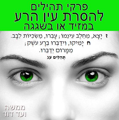 פרקי תהילים להסרת עין הרע – במזיד או בשגגה