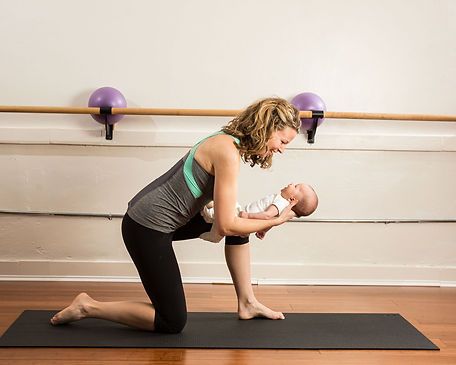 private training with mom and baby