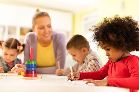 children in childcare