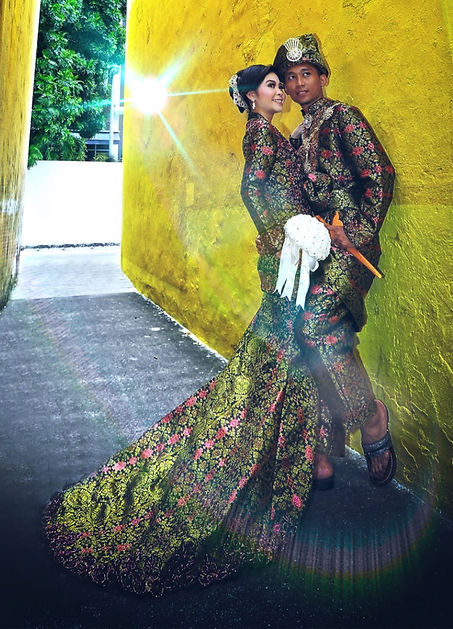 Wedding Photo w/Songket Outfit