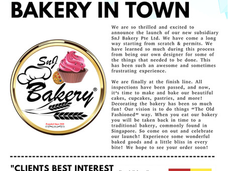 New ONLINE Bakery In Town!!