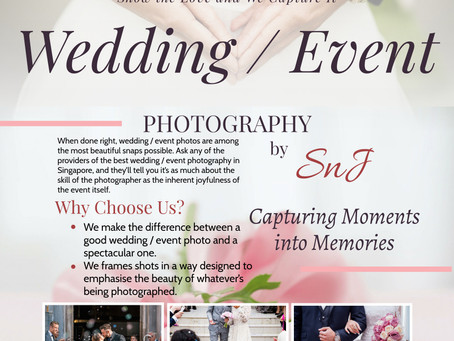 SnJ Featured as 1 of 34 Photographers With The Best Wedding Photography In Singapore
