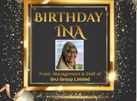 Happy Birthday Ms. Ina