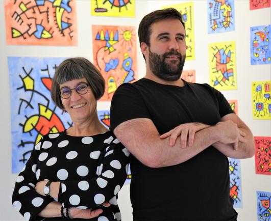 Künstler Raphael Reift und Mutter Annette Reift