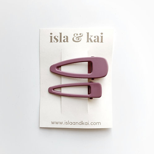 Sister Snap Clips - Plum