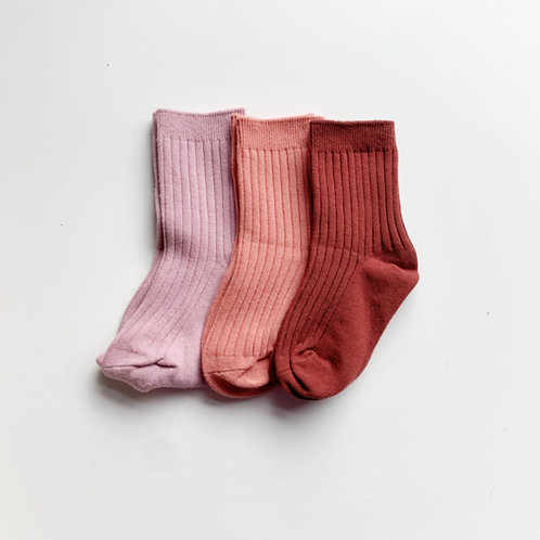 Ribbed Socks -  Rose Garden Collection