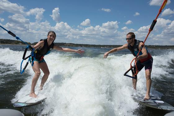 Tandem Surfing