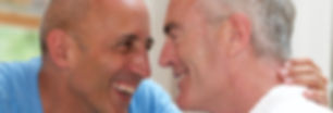 Senior Gay Male Couple at Bed and Breakf