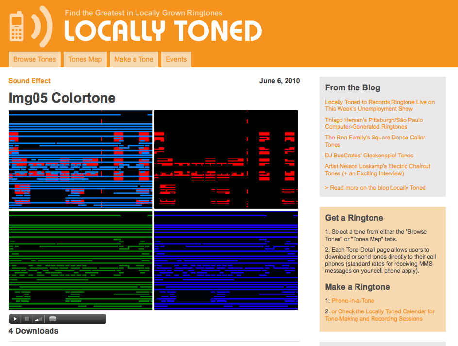 tone detail page