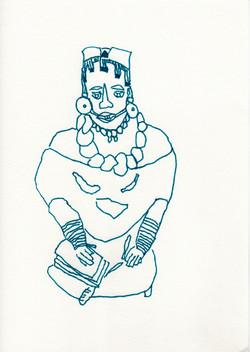 woman scribe, mexico city