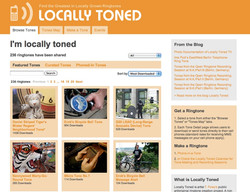 front page of locallytoned.org
