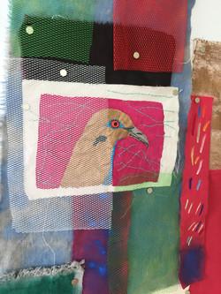 detail, textile assemblage