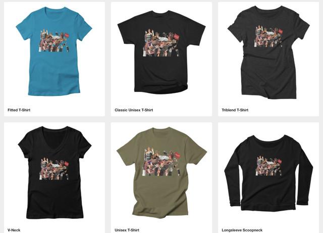 t-shirt digital print test