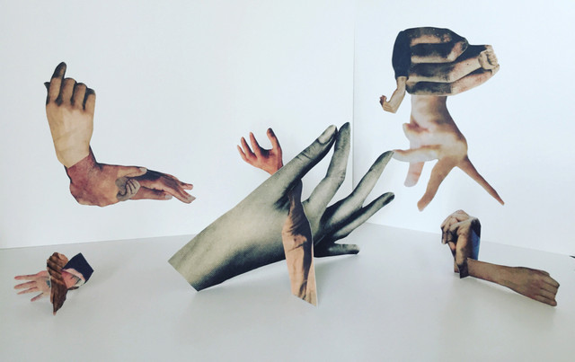 'waving not drowning' installation maquette