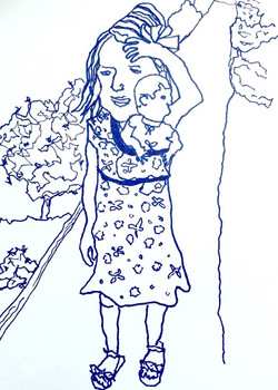 rowan & her baby(doll)bjorn