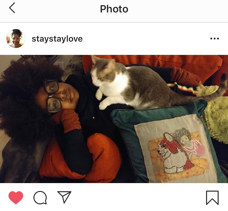 Staycee with Kitty & pillow