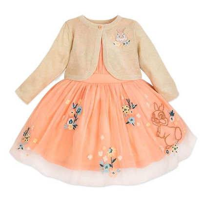 Full Sleeve Peach Party Dress with embroidery