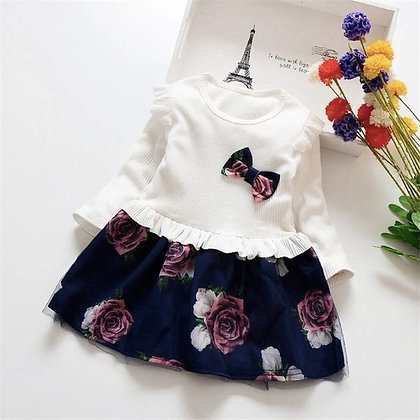 Plain Top and Printed Skirt Combo 1 for Girls