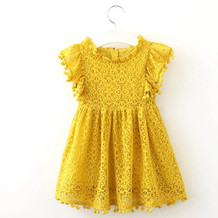 GI201049_Lace Yellow Dres with small pom poms on sleeves.jpg