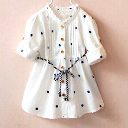 Cotton Dress with Polka Dot print