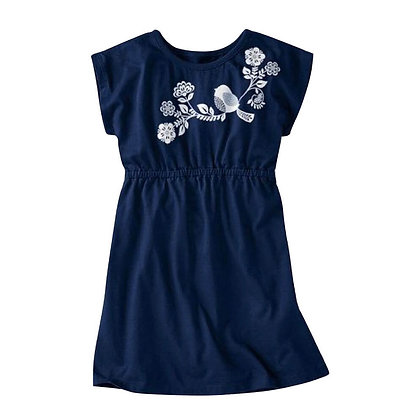Short sleeve Summer Dress with Embroidery for Girls
