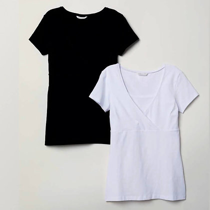 Black and White, Ladies Tops (Set of 2)