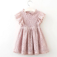 GI201050_Lace Pink Dres with small pom poms on sleeves.jpg