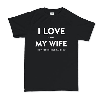 Mens' T-Shirt Love My Wife
