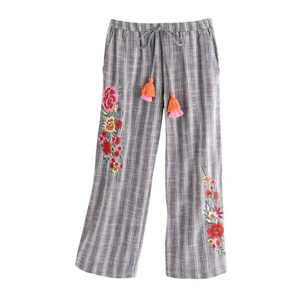 Embroidered Trousers for Girls