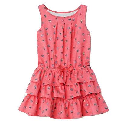 Sleeveless Summer Dress with Ruffle for Girls