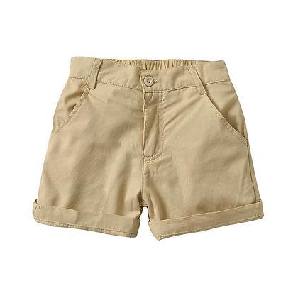 Khaki Shorts with Stretchable waist