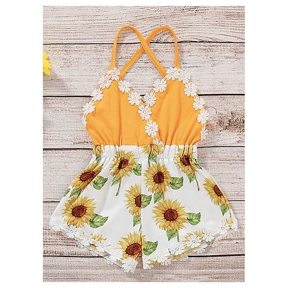 Printed Short Top and Shorts with pretty lace for babies
