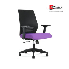 Colourful Revolving office chairs with adequate lumbar support.