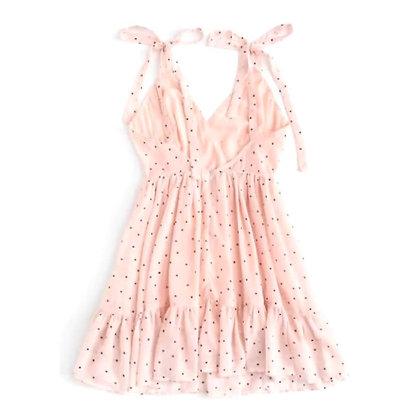 Short Summer Dress with Shoulder Ties