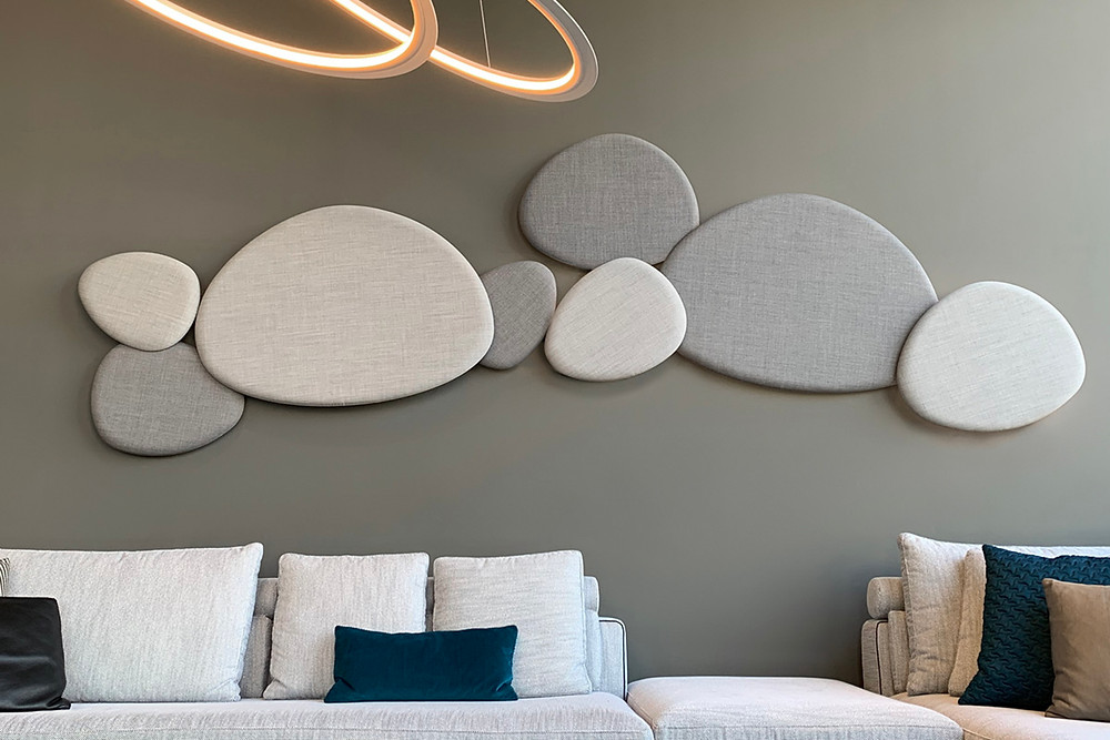 Sound absorbing wall flaps
