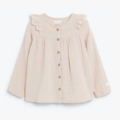Organic cotton Full Sleeve Baby Pink Top for Girls