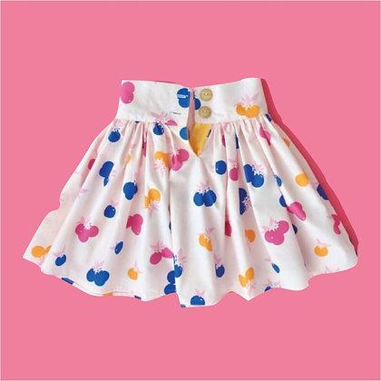Short Printed Cotton Skirt for Girls