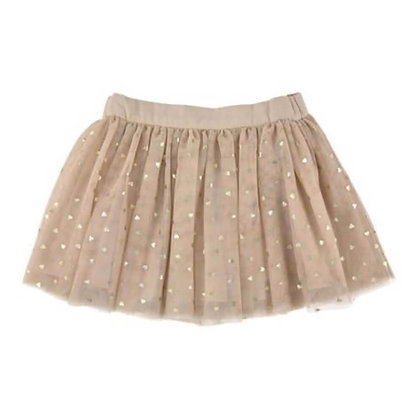 Short Cotton gauze and Soft Net Skirt for Girls