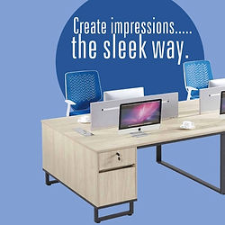 A sleek collection of office furniture products